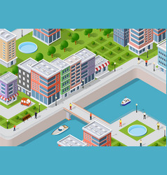 Isometric of a city vector