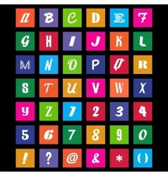 Metro Font Set vector image
