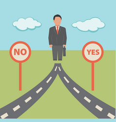 No yes solution concept business vector
