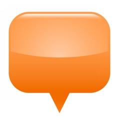 Orange glossy map pin blank location icon vector