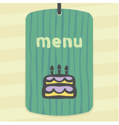 Outline birthday cake with candles icon modern vector