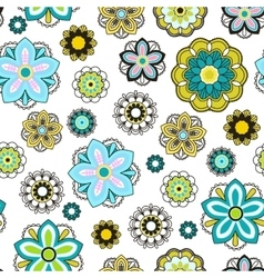 Seamless background with doodle circles vector image vector image