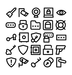 Security Icons 6 vector image vector image