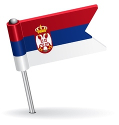 Serbian pin icon flag vector image vector image