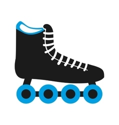 skate shoe wheel icon vector image