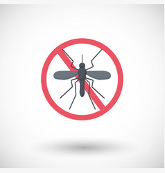 stop mosquito flat icon vector image