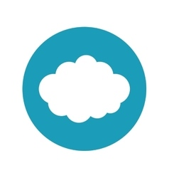 Travel cloud weather blue circle concept vector