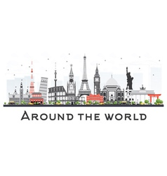 Travel concept around the world vector