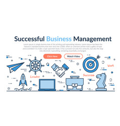 web site header - successful business management vector image vector image