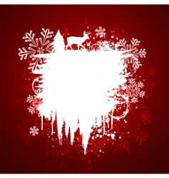 winter grunge design vector image vector image