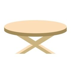 Wooden table flat isolated vector image