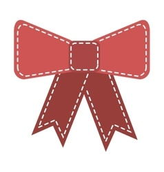 Bow tie decoration icon vector