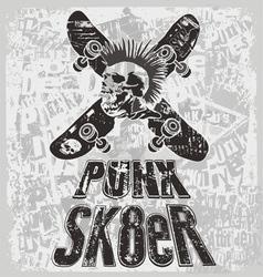 Sk8 punk vector