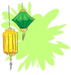 Chinese lanterns vector image