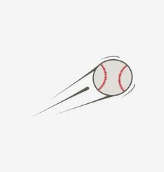 icon of baseball ball vector image