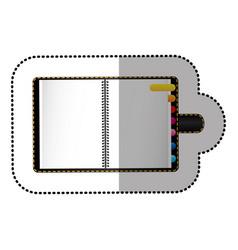 Color agenda with tabs icon vector