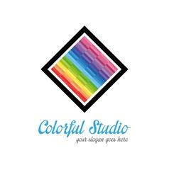 Creative studio logo templates vector image