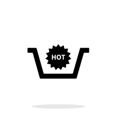 Basket with hot product simple icon on white vector