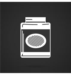 White icon for gainer supplements vector