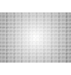 Grey geometric square mesh with shadow vector