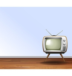 Old television in the room vector