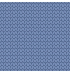 Tile blue knitting pattern or winter background vector