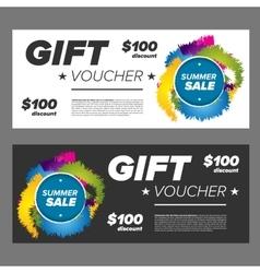 Summer sale gift voucher vector