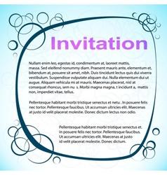 Abstract Circled Invitation vector image vector image