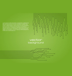 Abstract technological green background with eleme vector