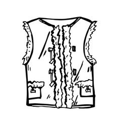 Beautiful warm waistcoat vector