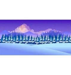 Beautiful winter landscape vector