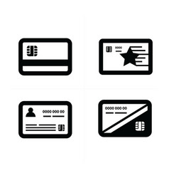 Black and white credit card vector