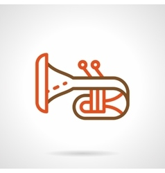 Bugle simple color line icon vector