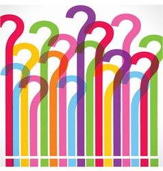 Colorful question mark background vector image