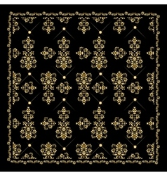 Gold bandana silk scarfluxury golden design vector