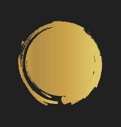 golden grunge vintage painted shapes vector image vector image