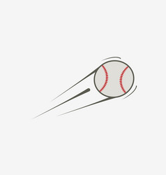 icon of baseball ball vector image vector image