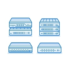 Network router icons vector