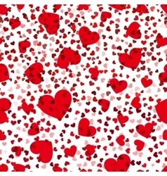 Red hearts seamless pattern love repeat vector