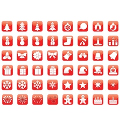 set of Christmas icons vector image