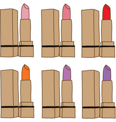 Set of lipsticks vector image vector image