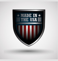 Shield with the american flag vector