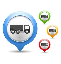 Truck Icon vector image vector image