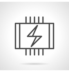 Electrical heated floor black line icon vector