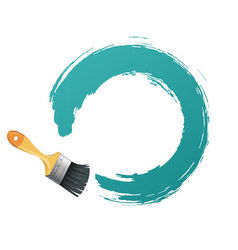 brush backgr vector image