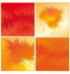 Set of the orange backgrounds vector