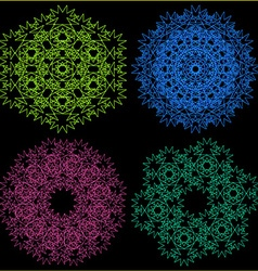 A set of four ornaments vector