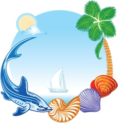 Sea summer travel concept vector