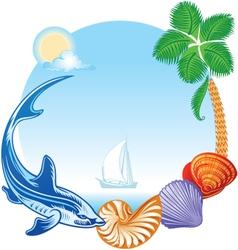 Sea Summer Travel Concept vector image