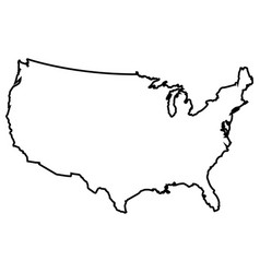 Isolated american map vector